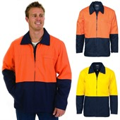 High Visibility Two Tone Drill Jacket