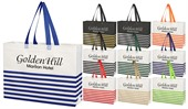 Horizontal Stripe Tote Bag