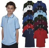 Kids Contrast Polo Shirt