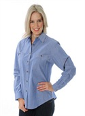 Ladies Cotton Chambray Shirt