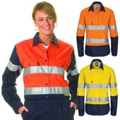 Ladies Two Tone High Vis Work Shirt