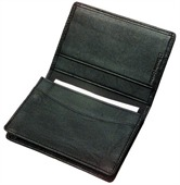 Leather Card Holder with Gusset