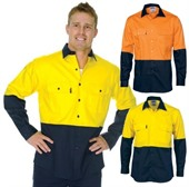 Long Sleeve 2 Tone Hi Vis Shirt