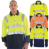 Long Sleeve Cotton Back Hi Vis Shirt