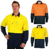 Long Sleeve Hi-Vis Work Shirt