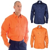 Long Sleeve Mens Drill Shirt