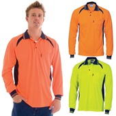 Long Sleeve Micromesh Polo