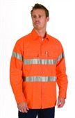 Long Sleeve Orange Hi-Vis Work Shirt