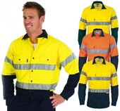Long Sleeve Reflective Tape Work Shirt