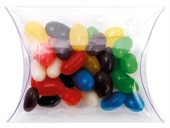 Mini Jelly Beans Mixed Colours Clear Pillow Box