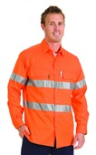 Orange Hi-Vis Reflective Work Shirt
