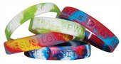 Rainbow Silicone Wristbands