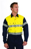 Reflective Tape Long Sleeve Hi Vis Shirt