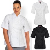 Short Sleeve Ladies Chefs Jacket