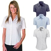 Short Sleeve Ladies Striped Shirt