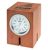 Square Wooden Desk Clock