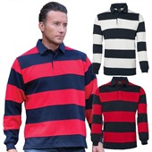 Striped Panel Rugby Jersey