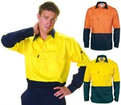Two Tone Hi-vis Long Sleeve Shirt