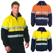 Two Tone High Vis Bomber Jacket