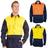Two Tone Mens Drill Shirt