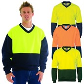V Neck Hi Vis Sweater