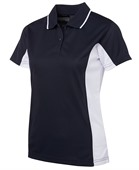 Womens Contrast Sports Polo Shirt