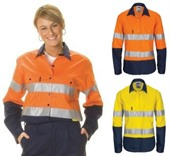 Womens Two Tone Hi-Vis Work Shirt