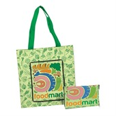 Zippered Full Colour Cotton Shopping Bag
